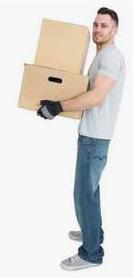 Vlaming verhuizer met Verhuisdozen